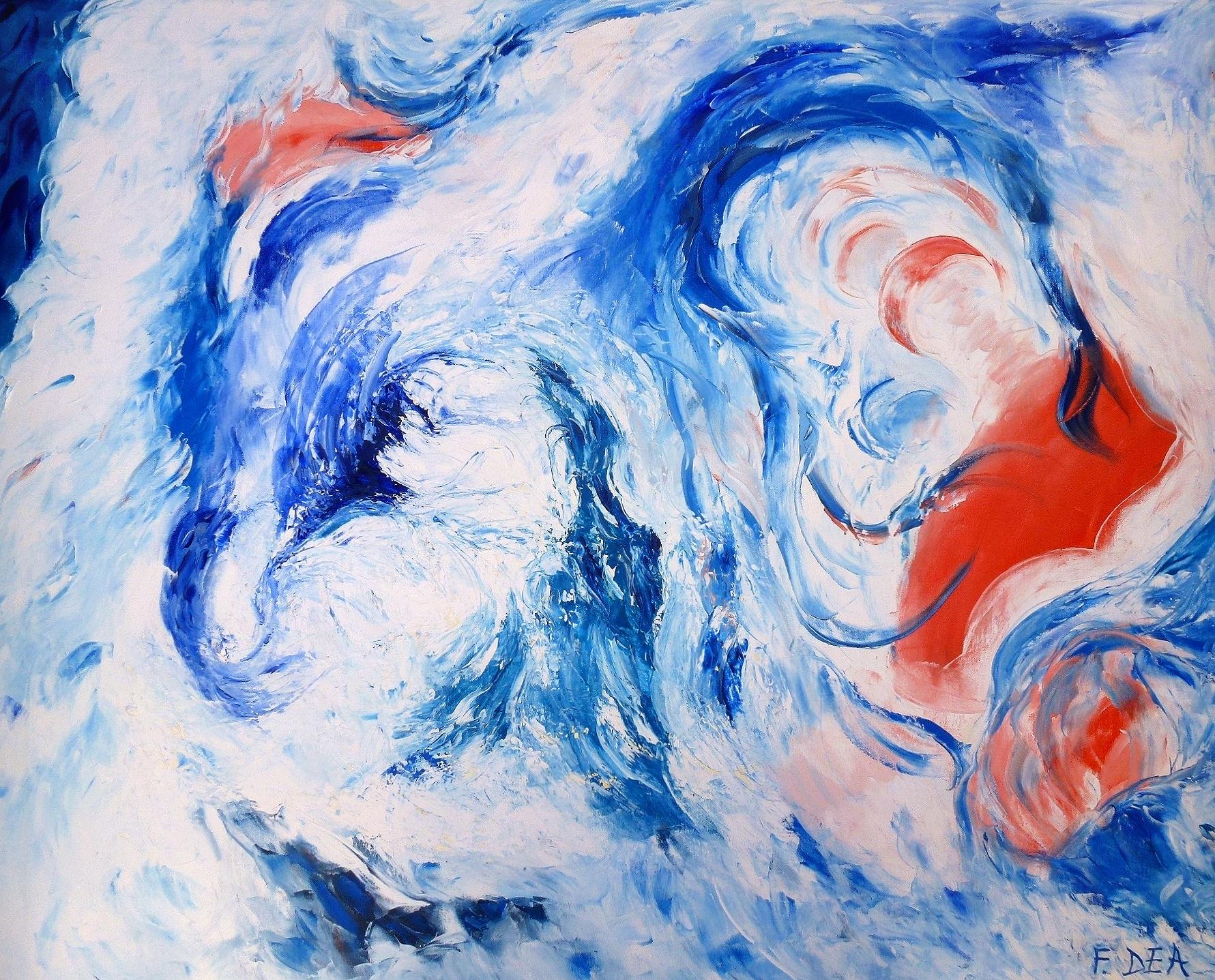 Creazione_100x80 Quadro dipinto a mano in olio su tela