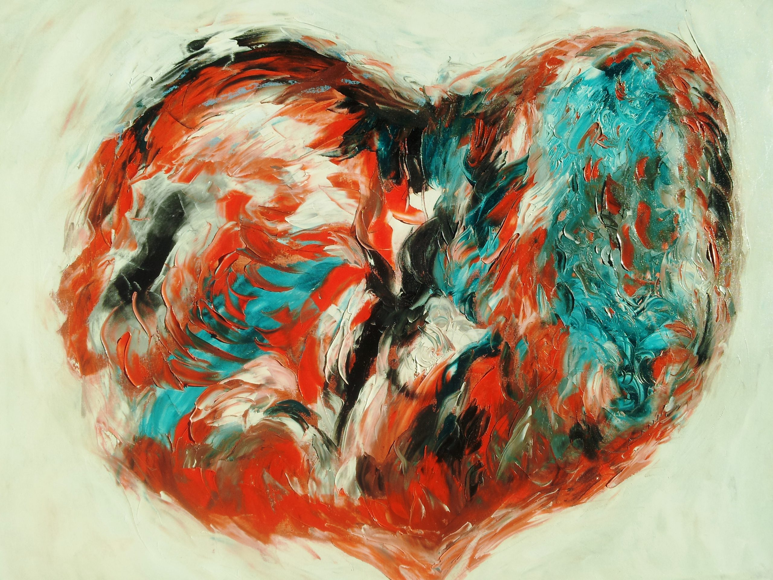 """Quadro di Francesco Dea """"Undertanding-Heart"""""""