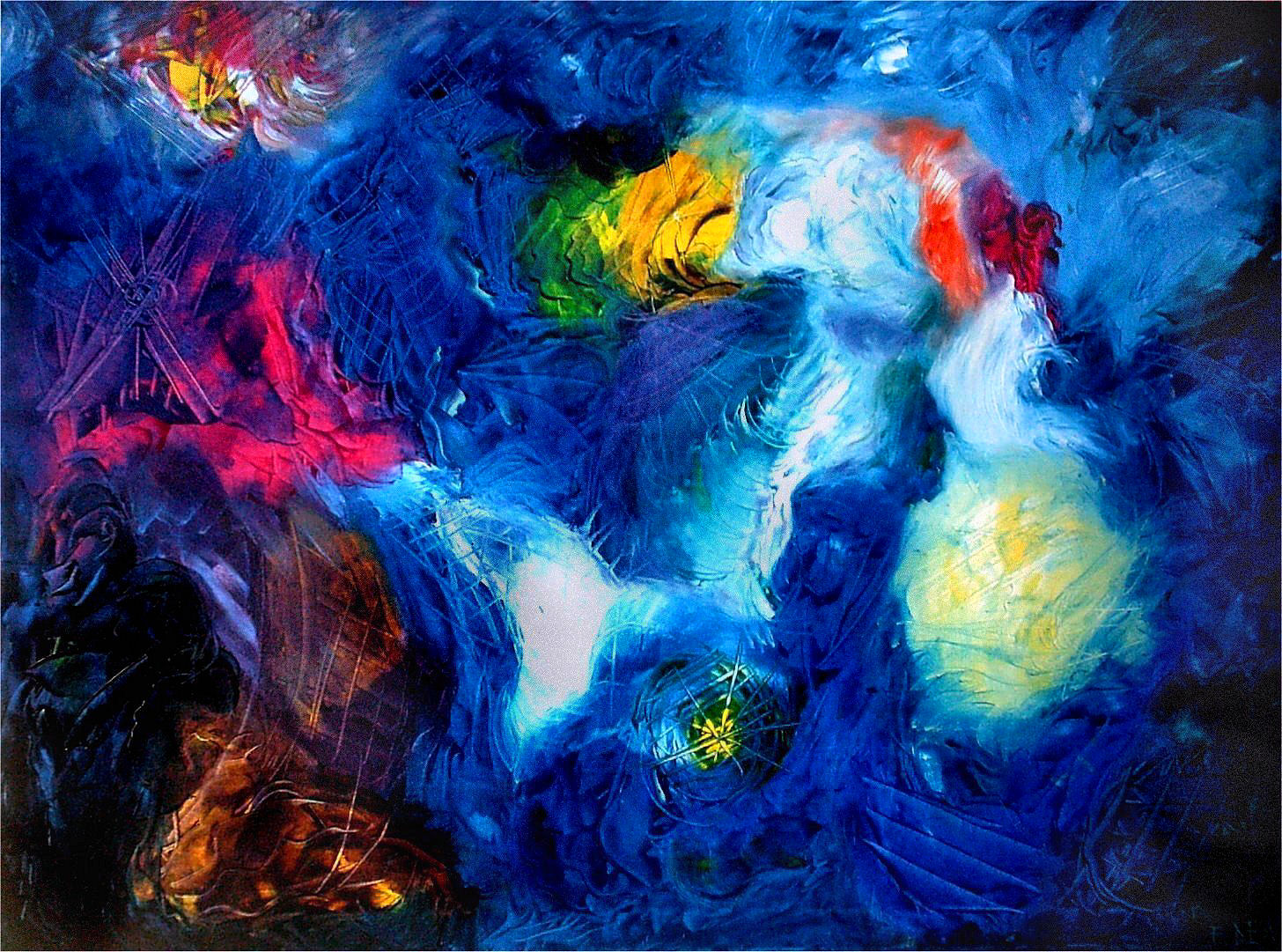 Quadro in olio su tela di Francesco Dea