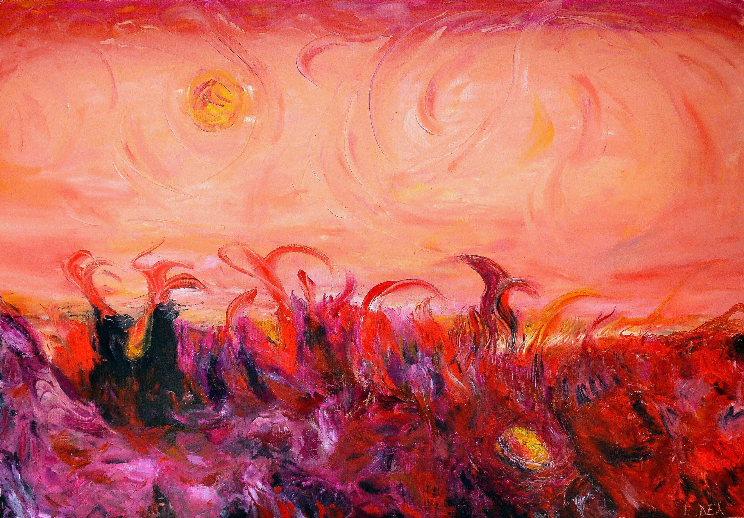 Il Cielo di Cydonia, Quadro di Francesco Dea